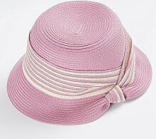 MuMa Sonnenhüte Neue Produkte Hut Sonnenschutz Visier Zusammenklappbar Anti-UV Sonnenhut (Farbe : Pink)