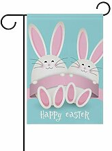 MUMIMI Home Garden Flaggen Happy Ostern mit