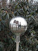 Mundgeblasen Rosenkugel Silber Gartenkugeln,