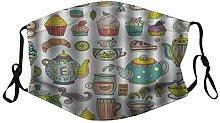 Munds-chutz Gesichtss-chutz Tea Party Kaffee und