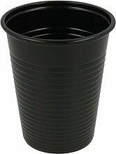 Mundspülbecher | Trinkbecher | Partybecher | Plastikbecher 180ml, 100er Packung (schwarz)