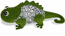 Mundus Dekoration Leo das Chamäleon, grün und grau
