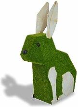 Mundus Dekoration Origami Hase Augustin, grün und beige