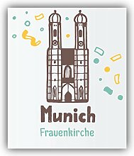 Munich City Germany Frauenkirche - Self-Adhesive