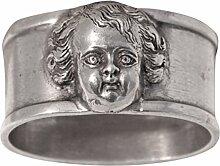 Munka Schweden Zinn Serviette Ring, Metallic Grau