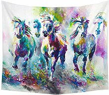 Munuodu Farbe Pferd Tapisserie 3D Digitaldruck