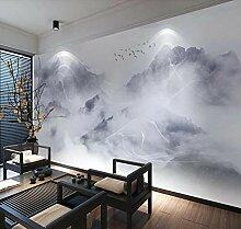 munxin-3D Tapete Berggipfelwolkenvogel Fototapete