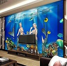 munxin-3D Tapete Blaue Gebäudekoralle Der