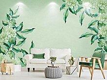 munxin-3D Tapete Grünes Grünes Blattaquarell Der