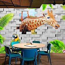 Mural 3D-Tapete für Kinderzimmer, niedlich, 3