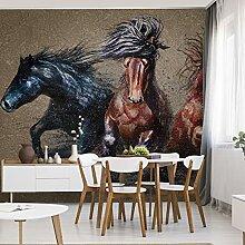 Muralo Fabelhafte Vlies Fototapete 368x254 Pferde