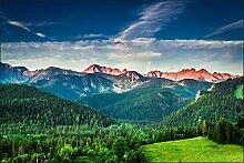 Muralo Fototapete Berge 90x135 Vlies Blick Berg