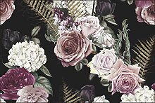 Muralo Fototapete Blumen 60 x 90 cm Vlies Tapete