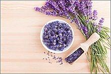 Muralo Fototapete Lavendel Blumen Für Die Küche