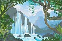 Muralo Fototapete Wasserfall im Dschungel 270 x