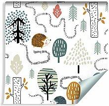 Muralo Tapete Für Kinder - Bunter Wald im