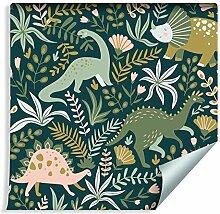 Muralo Tapete für Kinder - Dinosaurier Vlies bunt
