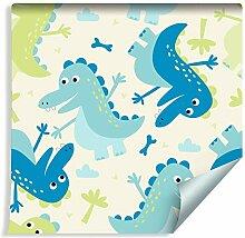 Muralo Tapete für Kinder - Dinosaurier Vlies