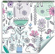 Muralo Tapete Für Kinder - Einhörner und