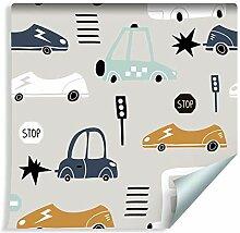 Muralo Tapete für Kinder - Fahrzeuge, Autos Vlies