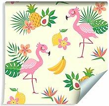 Muralo Tapete Für Kinder - Flamingos und