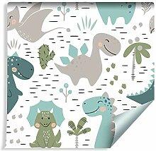 Muralo Tapete Für Kinder - Fröhliche Dinosaurier