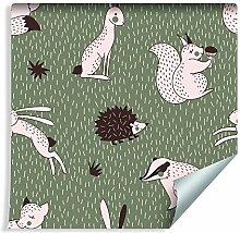 Muralo Tapete Für Kinder - Fröhliche Waldtiere