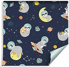 Muralo Tapete Für Kinder - Kosmische Faultiere,