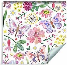 Muralo Tapete Für Kinder - Schmetterlinge auf der