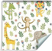 Muralo Tapete für Kinder - Tiere Dschungel Vlies