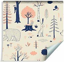 Muralo Tapete Für Kinder - Waldtiere im