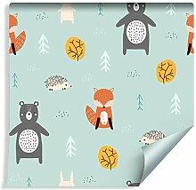 Muralo Tapete Für Kinder - Waldtiere in