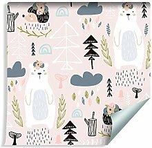 Muralo Tapete Für Kinder - Waldtiere Vlies Design