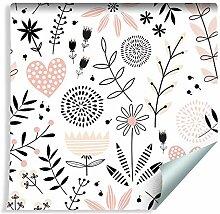 Muralo Tapete Für Kinder - Zarte Pflanzen und