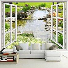 MuralXW Fototapete Moderne Einfache 3D Fenster