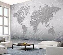 MuralXW Zement Textur Weltkarte Tapete Wandbild