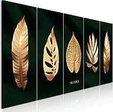 murando Akustikbild goldene Blätter 150x60 cm