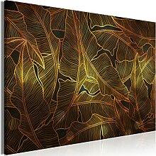 murando Akustikbild tropische Blätter 90x60 cm