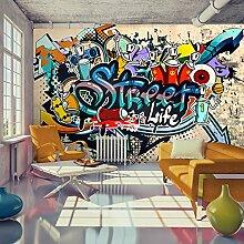 murando - Fototapete 150x105 cm - Vlies Tapete - Moderne Wanddeko - Design Tapete - Wandtapete - Wand Dekoration - Graffiti bunt Wasser i-A-0108-a-b