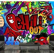 murando - Fototapete 150x105 cm - Vlies Tapete - Moderne Wanddeko - Design Tapete - Wandtapete - Wand Dekoration - Graffiti 10110905-11