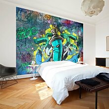 murando - Fototapete 400x280 cm - Vlies Tapete - Moderne Wanddeko - Design Tapete - Wandtapete - Wand Dekoration - Graffiti 10110905-2
