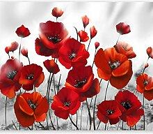 murando Fototapete Blumen Mohn 300x210 cm Vlies