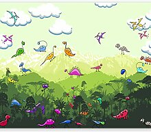murando - Fototapete Dinosaurier 300x210 cm -