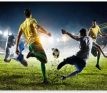 murando - Fototapete Fussball 350x256 cm - Vlies