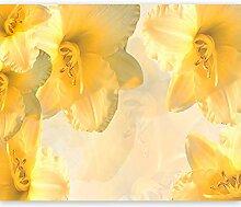 murando Fototapete gelbe Lilien 350x270 cm Vlies