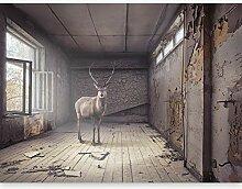 murando Fototapete Hirsch 450x280 cm Vlies Tapeten