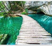 murando - Fototapete Landschaft Brücke 200x140 cm