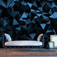 murando - Fototapete SCHWARZE DREIECKE 150x105 cm - Vlies Tapete - Moderne Wanddeko - Design Tapete - Wandtapete - Wand Dekoration - 3D optisch schwarz geometrisch f-C-0113-a-d