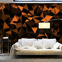 murando - Fototapete SCHWARZE DREIECKE 150x105 cm - Vlies Tapete - Moderne Wanddeko - Design Tapete - Wandtapete - Wand Dekoration - 3D optisch schwarz geometrisch f-C-0113-a-c