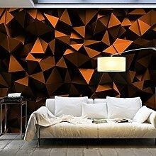 murando - Fototapete SCHWARZE DREIECKE 200x140 cm - Vlies Tapete - Moderne Wanddeko - Design Tapete - Wandtapete - Wand Dekoration - 3D optisch schwarz geometrisch f-C-0113-a-c